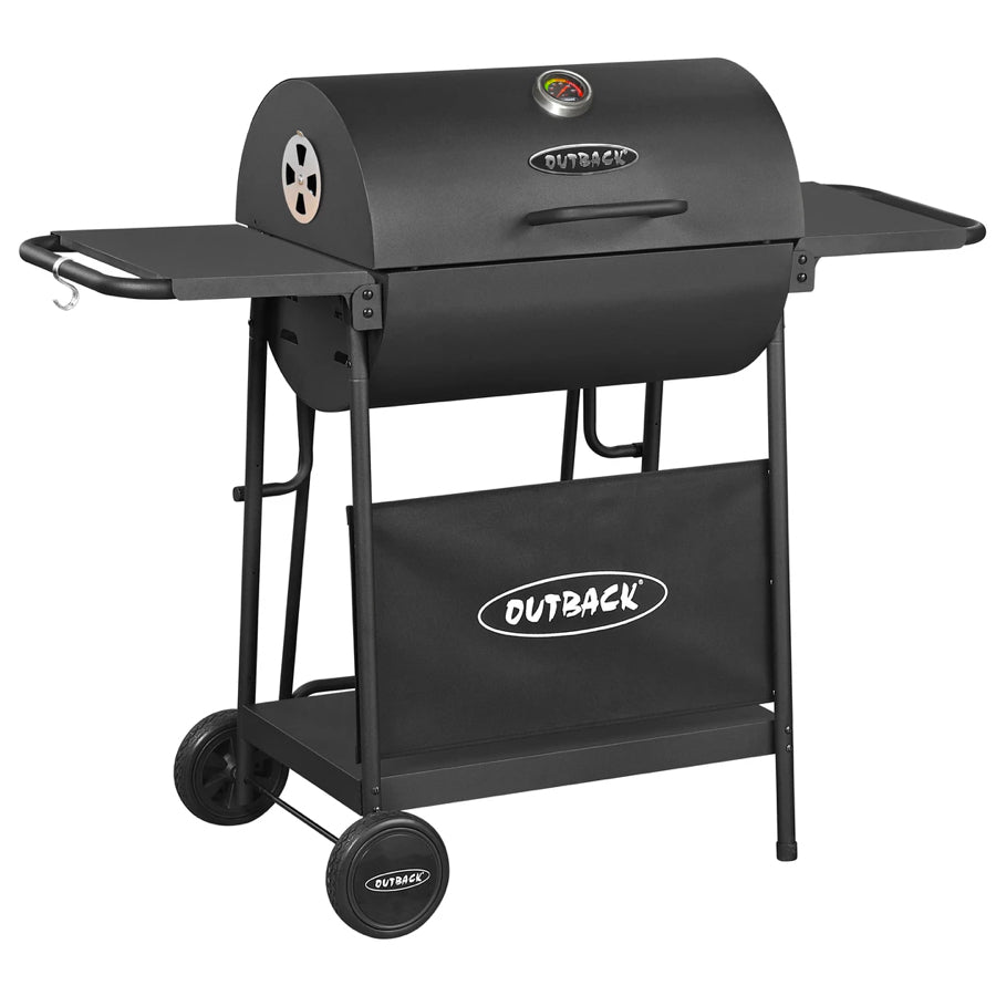 Full Drum Charcoal BBQ - Black