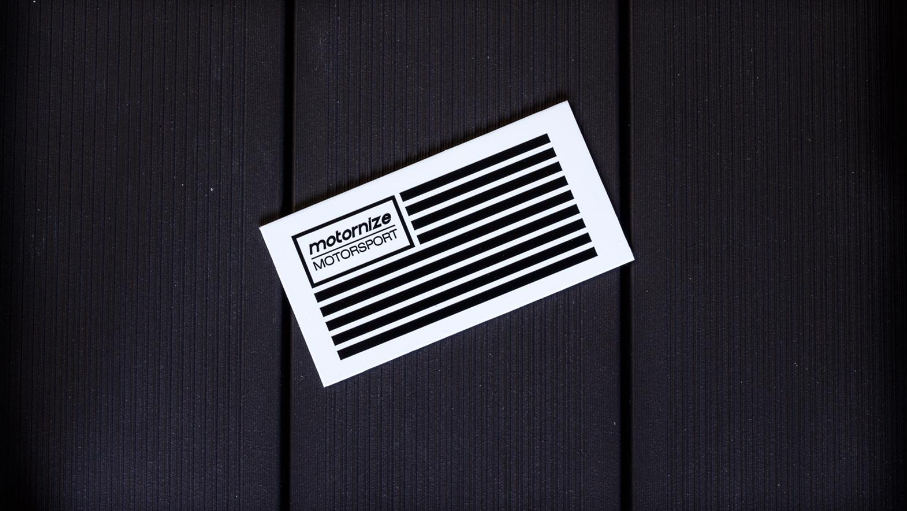 Motornize Flag Sticker - geplottet 120mm x 60mm