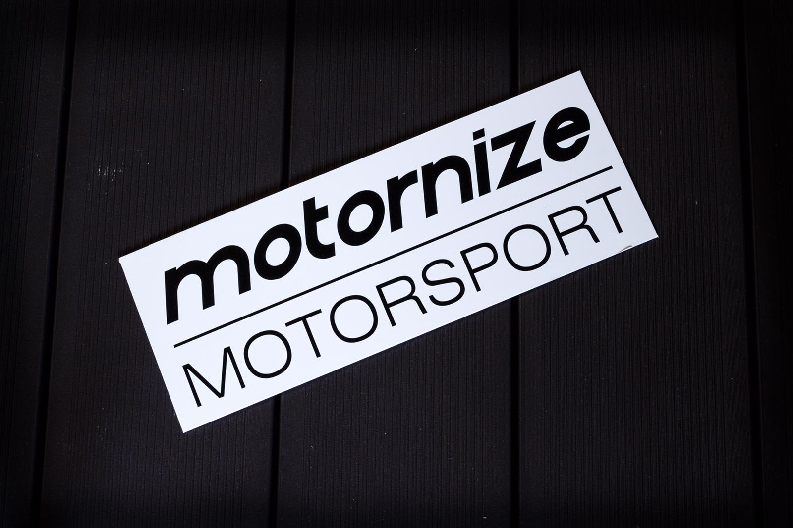 Motornize Motorsport Sticker - geplottet 120mm x 40mm