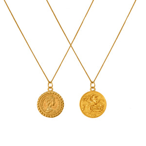 The coin charm necklace