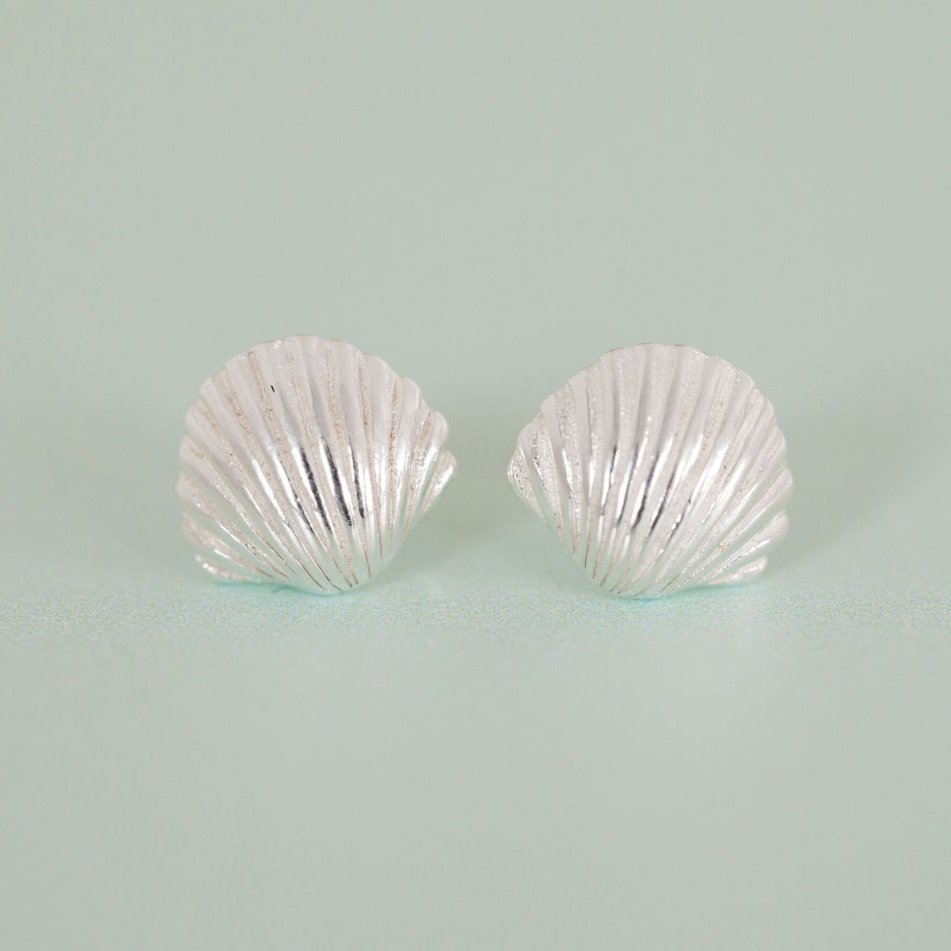 Silver shores earrings