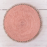 Cowrie placemat - Rose