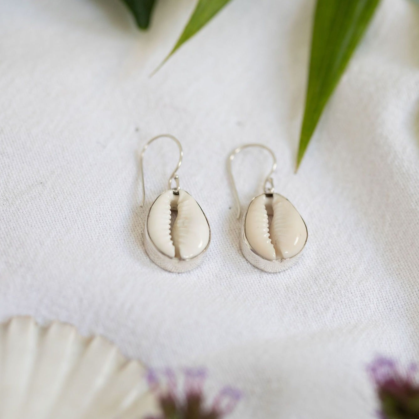 Cowrie gypsy earrings