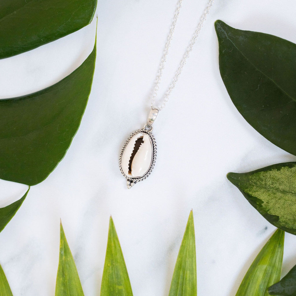 Cowrie Shiva necklace