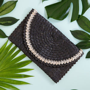 Boho batik clutch bag - Midnight