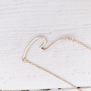 Ocean swell bar necklace