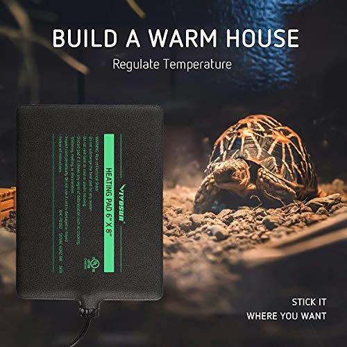 VIVOSUN 6x8 Inch Reptile Heating Pad 8W Under Tank Heater for Tropical and Temperate Reptiles