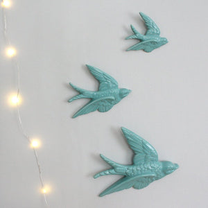 Flying Swallows - blue