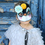 Penguin mask - clown, flowers - Dessin Design