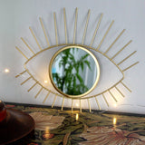 Gold eye mirror - Dessin Design