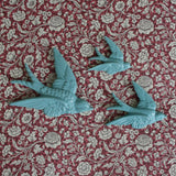 Flying Swallows - blue - Dessin Design