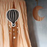 Hot air balloon, taupe, mobile - Dessin Design