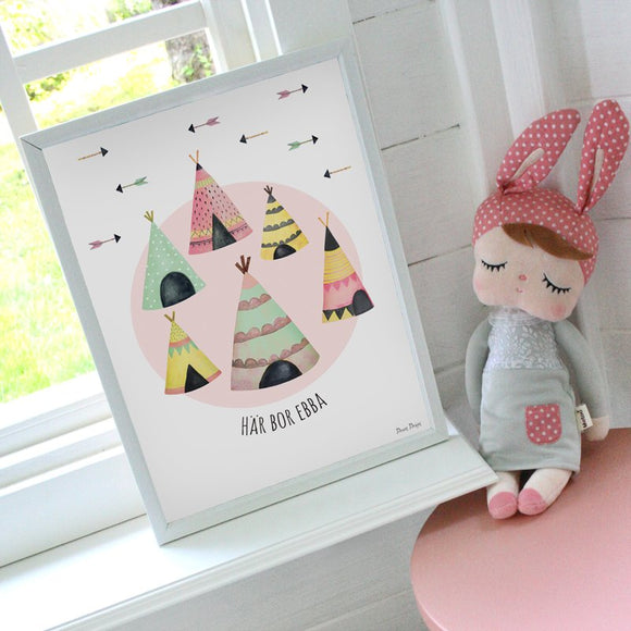 Tipi, name poster - Dessin Design