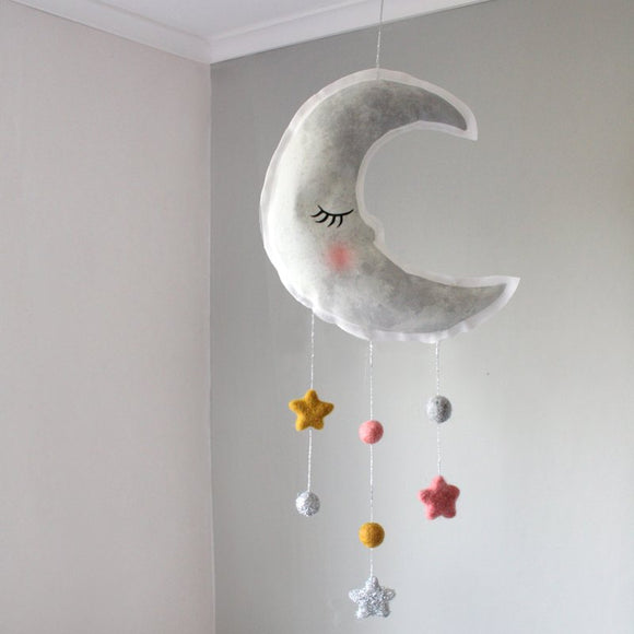Moon, gray, mobile - Dessin Design
