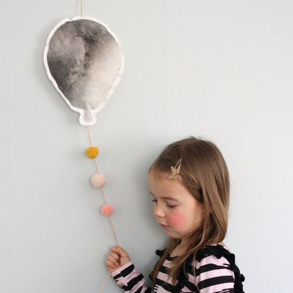 Balloon - gray/pink, mobile - Dessin Design
