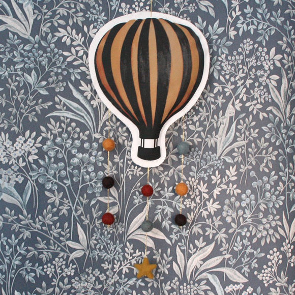 Hot air balloon, rust, mobile - Dessin Design