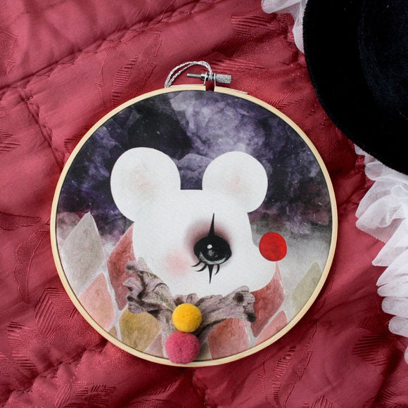 Clown mouse, wall hoop - Dessin Design