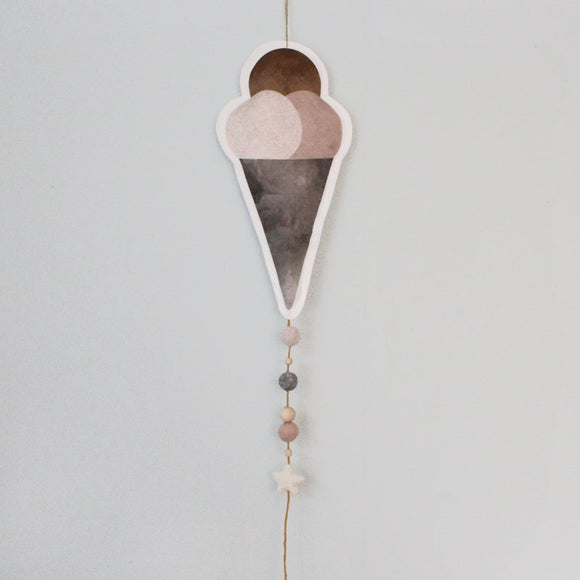 Ice cream, taupe, mobile - Dessin Design