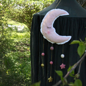 Moon, pink, mobile - Dessin Design