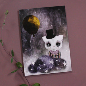 Mini poster - Clown cat, gold - Dessin Design