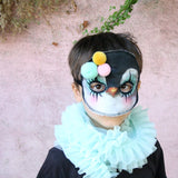 Penguin mask - clown, pom poms - Dessin Design