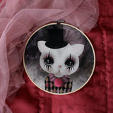 Clown cat, lilac, wall hoop - Dessin Design
