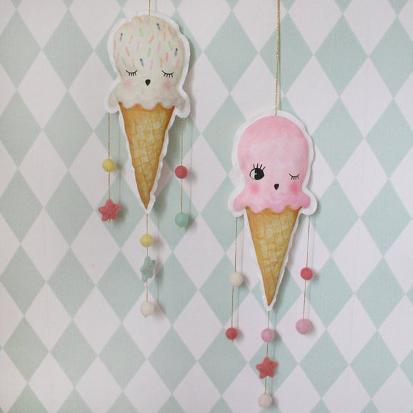Pastel ice cream, mobiles - Dessin Design