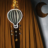 Hot air balloon, dim green, mobile - Dessin Design