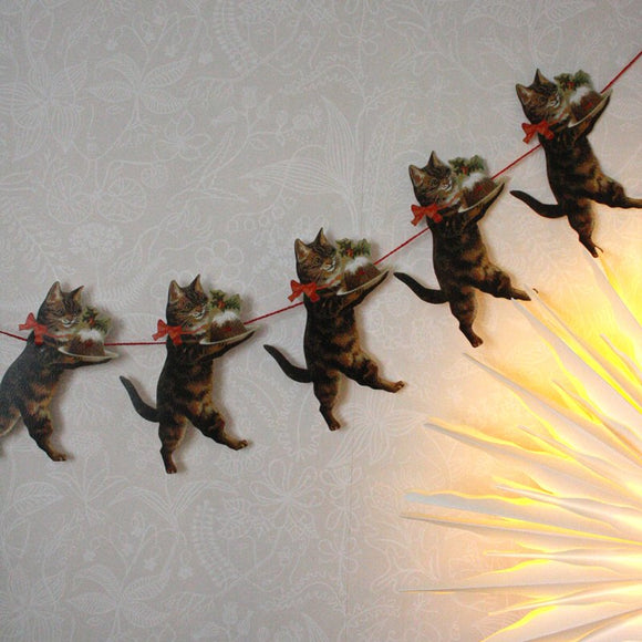 Cat christmas garland - Dessin Design