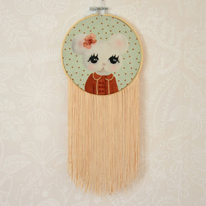 Barbro, small wall hoop - Dessin Design