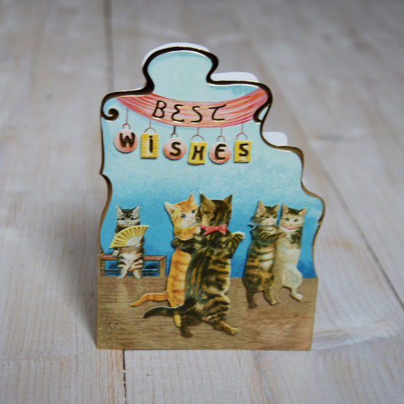 3D card - dancing cats