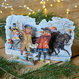 3D Christmas card - horse and carriage