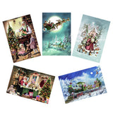 Glittery vintage advent calendars - Dessin Design
