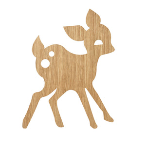 Ferm Living, My deer lamp, Oiled Oak