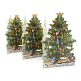 Fold out paper row - Christmas tree