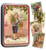 Tin box with 20 christmas cards
