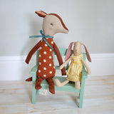 Maileg - wooden bench, bambi and aya - Dessin Design