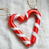 Christmas bauble - candy cane, red - Dessin Design