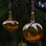 Christmas glass bauble - sienna