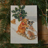 Vintage post card - cat&dog - Dessin Design