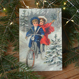 Vintage style christmas card, kids - Dessin Design