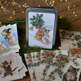 Tin box with 20 christmas cards - Dessin Design