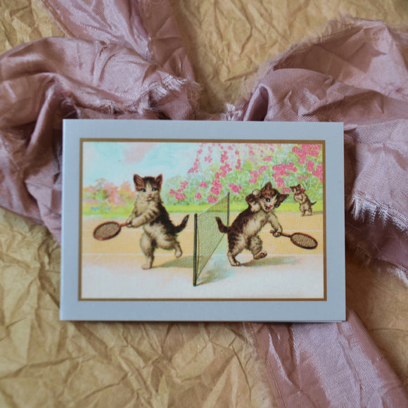 Dessin Design - Small card with envelope - retro cats