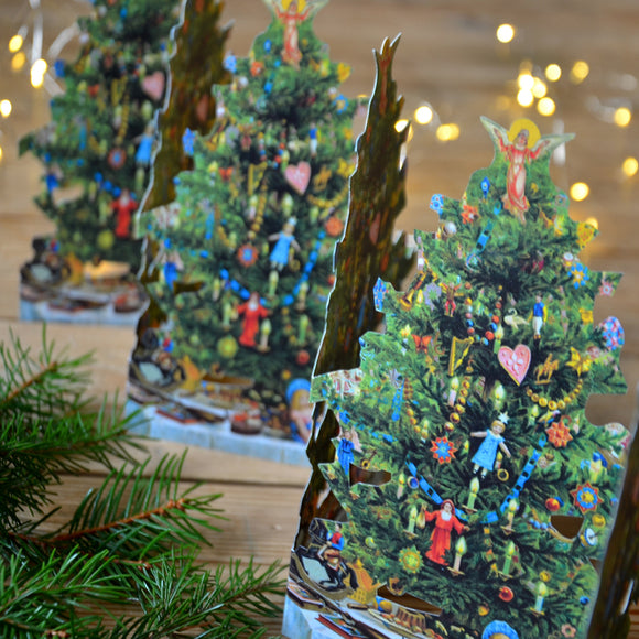 Fold out paper row - Christmas tree - Dessin Design