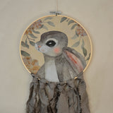 Wall hoop; Bunny portrait - grey - Dessin Design