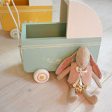 Maileg - micro pram, powder blue - Dessin Design