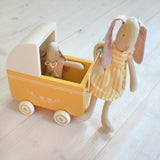Maileg - micro pram, yellow and Aya - Dessin Design