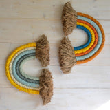 Rainbow wall hanging, spring & brick - Dessin Design
