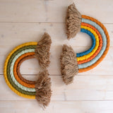 Rainbow wall hangings, brick & autumn - Dessin Design