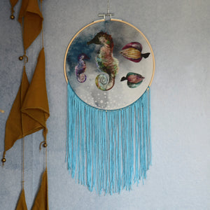 Deep sea, wall hoop - Dessin Design